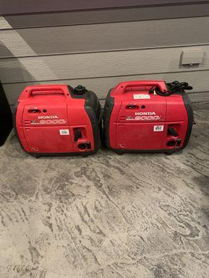 Twin Honda 2000i Generators companion w/ parallel kit for Sale in Maple Valley, WA