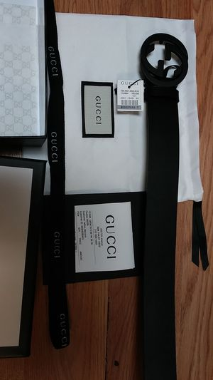 Authentic black Gucci belt for Sale in Paterson, NJ
