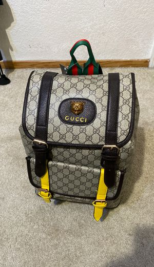 Gucci bag mens/women's leather backpack full-size for Sale in Modesto, CA