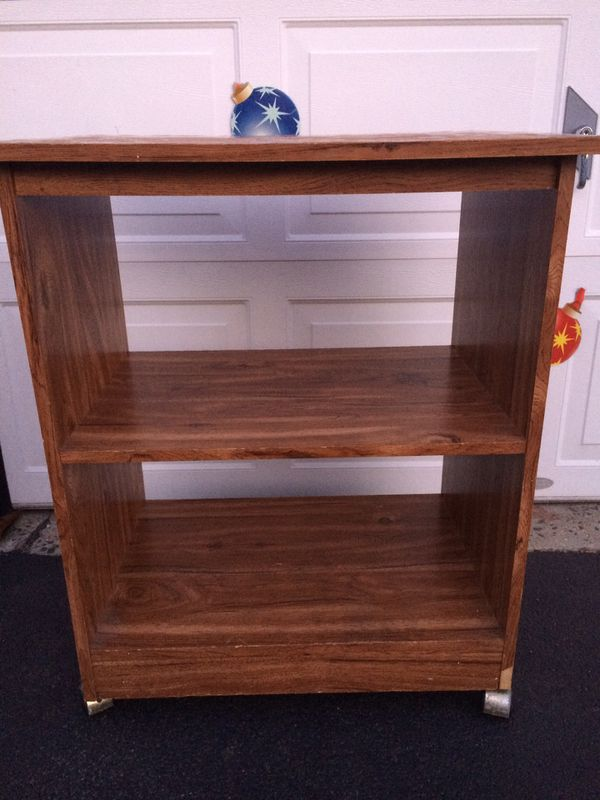 Rolling Storage Cart with Two Shelves. Kitchen / TV Cart