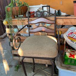 Heavy Iron Swivel Bar Stool Pair for Sale in Fontana,  CA
