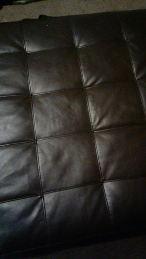 Leather Foot Stool. For sectional for Sale in Baltimore, MD