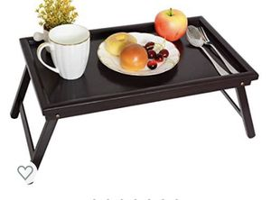 Bamboo Bed Tray Table - Lap Tray Table for Breakfast in Bed, Dinner Serving Food Eating Tray for Sale in Phoenix, AZ