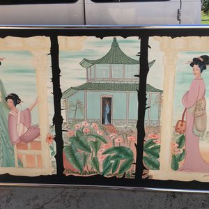 """Painting Chinese Artwork In Good Condition 80"""" X 50"""" $200 OBO. for Sale in Lake Worth, FL"""