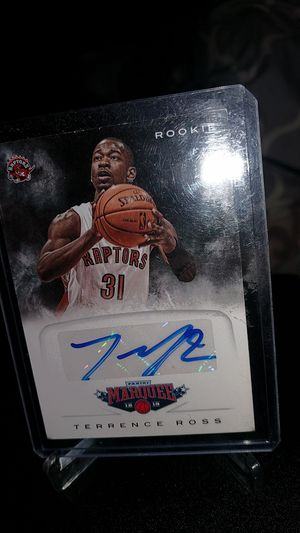 Terrence Ross raptors autograph RC panini No.31 2012 for Sale in New Albany, IN