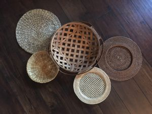 Vintage boho wall basket set for Sale in La Mesa, CA