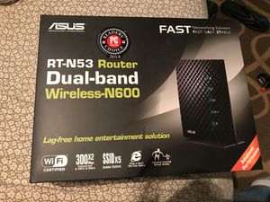 Asus Router RT-N53 Wireless-N600 for Sale in Houston, TX