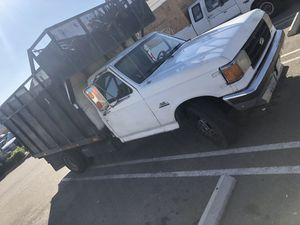 Flat bed Ford truck F350 diesel year 1989 Miles 20553 automatic good conditions for Sale in Long Beach, CA