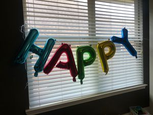Happy Birthday balloon banner for Sale in Humble, TX