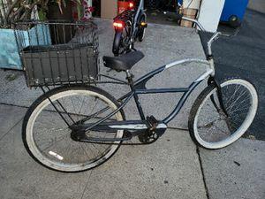 Beach cruiser bike with custom welded basket for Sale in Los Angeles, CA