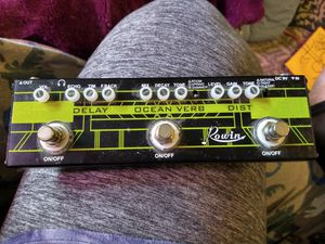 Rowin Guitar Multi-Effect Pedal Delay Ocean Verb Distortion 3-in-1 Series Analog Digital Mingle Effects Pedals for Sale in Arlington, WA