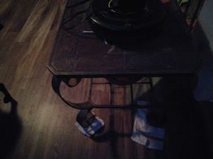 Set of 2 wrought iron end tables for Sale in Arlington, TX