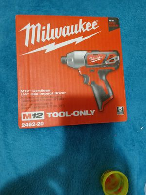 Milwaukee impact driver new 12v for Sale in Charlotte, NC