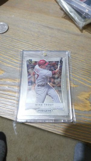 Baseball card- 2012 prizm mike trout rc for Sale in West Stayton, OR