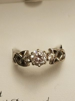 STUNNING STERLING SILVER RING WITH CUBIC ZIRCONIA for Sale in Fairfax, VA