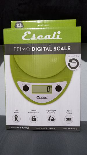 Escali Primo Digital Kitchen Scale (11 lb/ 5 kg Capacity) (0.05 oz/ 1 g Increment) Premium Food Scale for Baking and Cooking - Tarragon Green for Sale in South Gate, CA