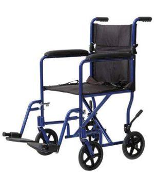 "ProBasics Lightweight Aluminum Transport Chair (19"" Seat Width, Blue) TCA1916BL for Sale in Las Vegas, NV"