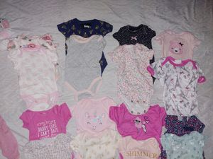 0-3 months baby clothes wore never & few never for Sale in Riverside, CA