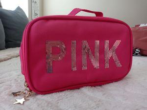 PINK cosmetic bag for Sale in San Antonio, TX