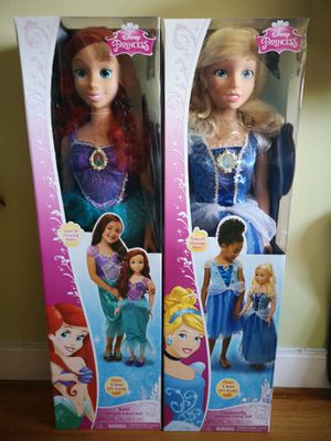 Disney Princess MySize Doll 38in Ariel and Cinderella Set for Sale in The Bronx, NY