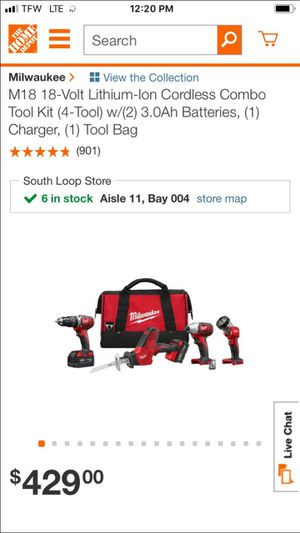 Milwaukee 4 piece tool set asking $260 for Sale in Chicago, IL