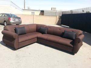 NEW 7X9FT DARK BROWN MICROFIBER SECTIONAL COUCHES for Sale in Pomona, CA