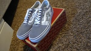 Vans ward (otw repeat) gry/wht size 10 for Sale in Sandy, OR