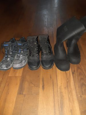 2 Steel toe boots 1 regular boot for Sale in Stone Mountain, GA