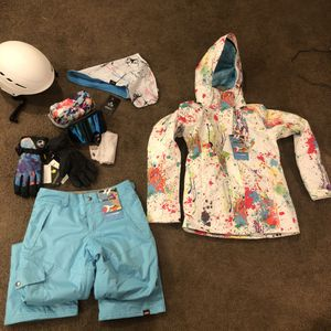 GSOU ski jacket/pants with goggles and helmet UPDATED for Sale in Watsonville, CA