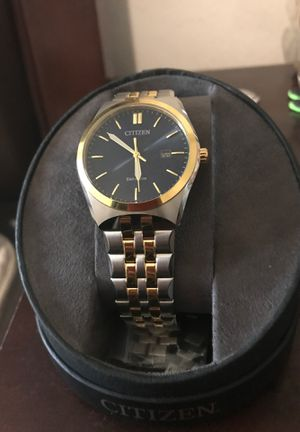 Gold and silver Eco mode Cittizens Watch for Sale in Houston, TX