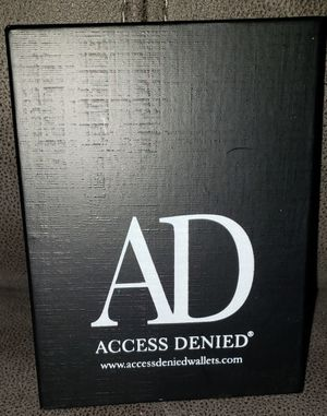 Mens Black Leather Wallet by Access Denied for Sale in Glen Burnie, MD