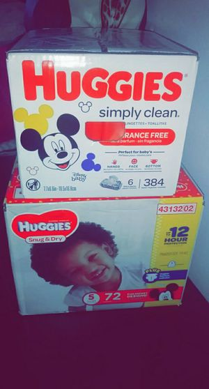 Huggies wipes and diapers for Sale in Chicago, IL
