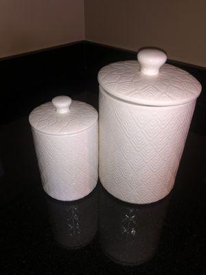 Set of matching white porcelain cookie jars for Sale in Arlington, VA