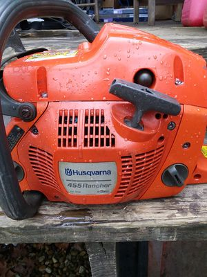 """Husqvarna 455 """"RANCHER""""! 18"""" bar&chain 56cc runs Great! Needs Screw for adjusting chain! Asking $200 obo.. for Sale in Sophia, NC"""