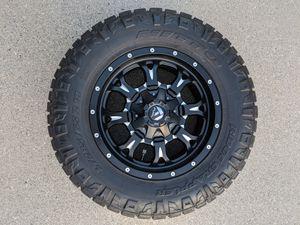 "SET OF 4 Fuel Crank 18x9"" wheels w/Nitto Ridge Grapplers 285/65R18 for Sale in Millcreek, UT"