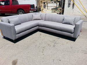 NEW 7X9FT ELITE LIGHT GREY FABRIC SECTIONAL COUCHES for Sale in San Bernardino, CA