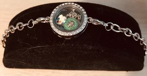 Charm holder silver link bracelet for Sale in Silver Spring, MD