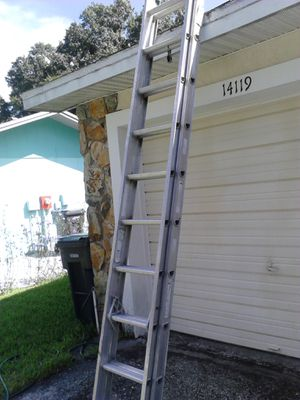 Werner 22 ft extension ladder exc cond for Sale in Tampa, FL