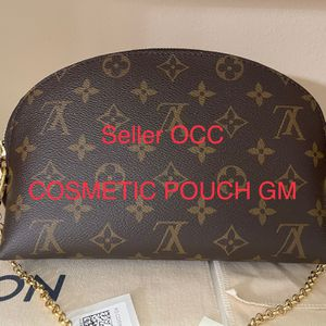 BRAND NEW AUTHENTIC LV LOUIS VUITTON MONOGRAM COSMETIC POUCH GM canvas SHOULDER BAG MADE IN FRENCH 🇫🇷 PARIS HANDHELD 💼 for Sale in Kent, WA