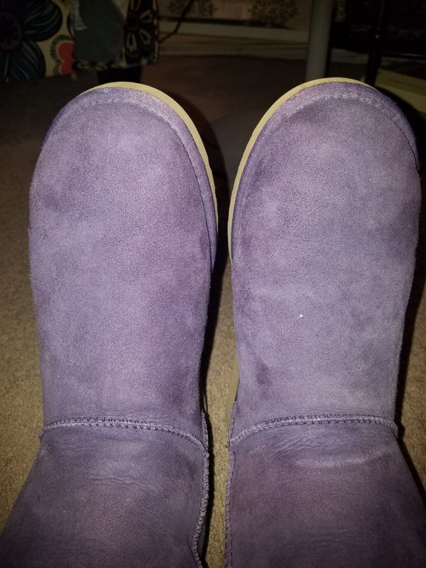 Tall Purple Ugg Boots Size 10 wide