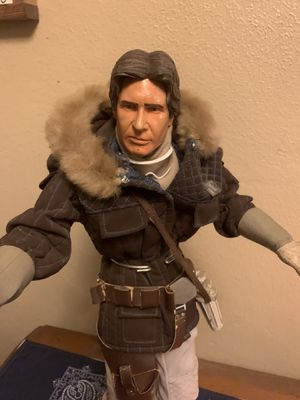 1/4 Scale 19 IN STAR WARS TALKING HOTH HAN SOLO FIGURE for sideshow hot toys rare for Sale in Phoenix, AZ