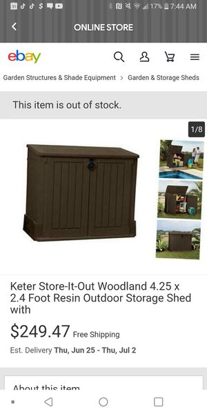 Outdoor shed for Sale in Cleveland, OH