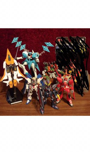 Gundam action figure seed and model kit lot for Sale in Rancho Cucamonga, CA