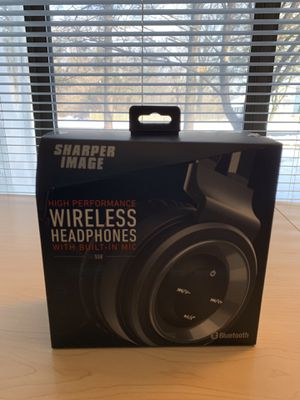 Sharper image wireless headphones with built in mic for Sale in Rockville, MD