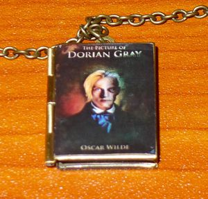 Oscar Wilde's The Picture of Dorian Gray Book Locket Necklace for Sale in San Jose, CA