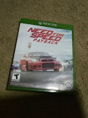 Xbox one need for speed game for Sale in Long Beach, CA