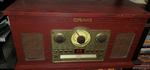 Record Play, CD player, Aux input, AM/FM Radio, Cassette for Sale in Reedley, CA