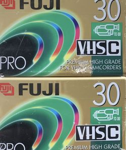 Fuji Film VHS-C TC-30 Camcorder Tapes (2 Tapes) NEW SEALED Vtg for Sale in Concord,  CA