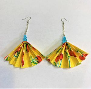 Fan Dangle Earring perfect for every day wear or for gift for her for Sale in Peoria, IL