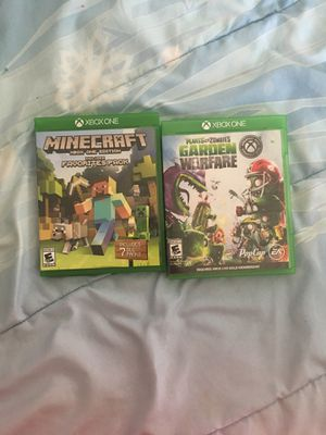 Minecraft Favorite Pack and Garden Warfare for Sale in Fort McDowell, AZ